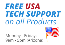 Free USA Tech Support on all Products